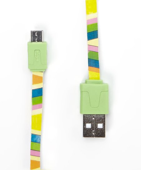 Green Stripe Micro USB Charger Cable