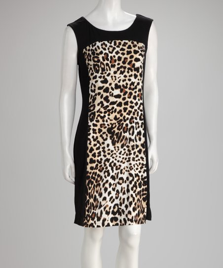 Black Leopard Dress