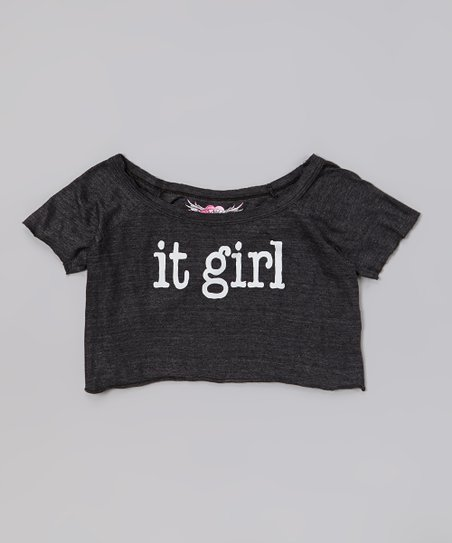 Charcoal 'It Girl' Crop Top