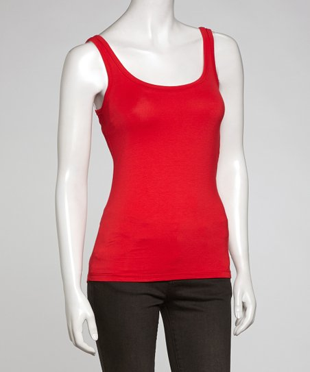 Poppy Scoop Neck Tank