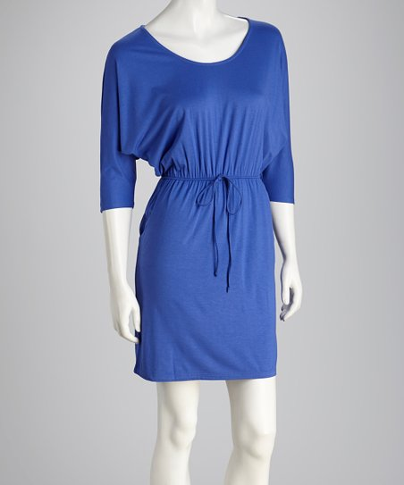 Periwinkle Tie Dolman Dress