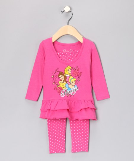 Pink Princess Ruffle Tunic & Leggings - Infant