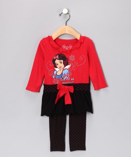 Red Snow White Polka Dot Tunic & Leggings - Infant