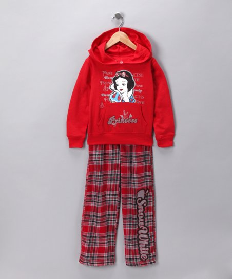 Red Snow White Hoodie & Pants - Girls