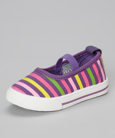 Purple Stripe Flat