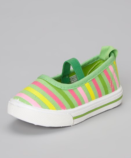 Light Green Stripe Flat