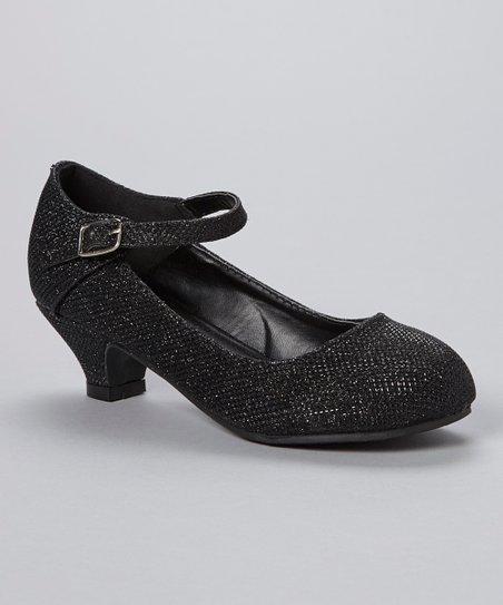 Black Sparkle Mary Jane Pump