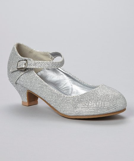 Silver Sparkle Mary Jane Pump