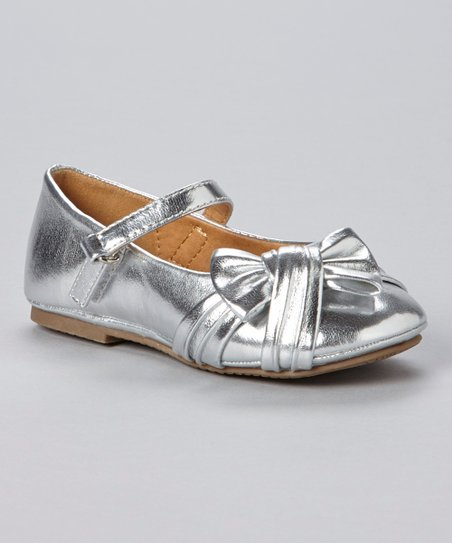 Silver Metallic Mary Jane