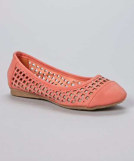 Coral Lattice Cutout Flat