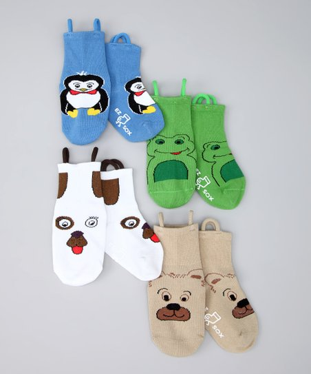 Mulitcolor Zoo Friends Socks Set