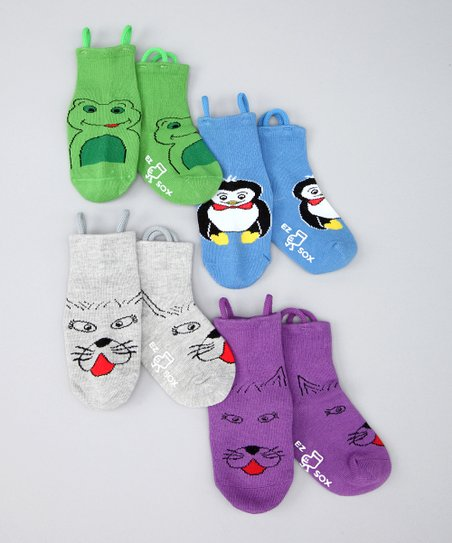 Multicolor Cats &amp; Friends Socks Set