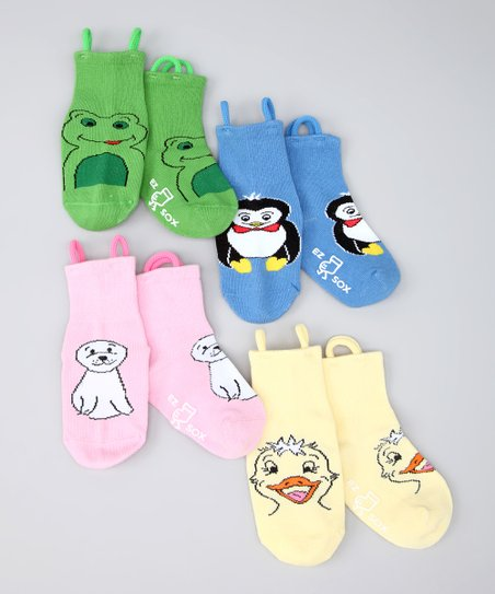 Multicolor Water Friends Socks Set