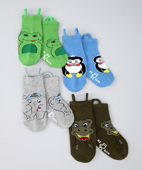 Multicolor Animal Kingdom Socks Set