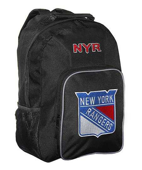 New York Rangers Black Southpaw Backpack