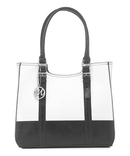 White & Black Jane Tote