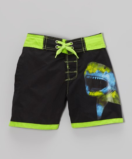 Black Shark Swim Trunks - Infant & Toddler