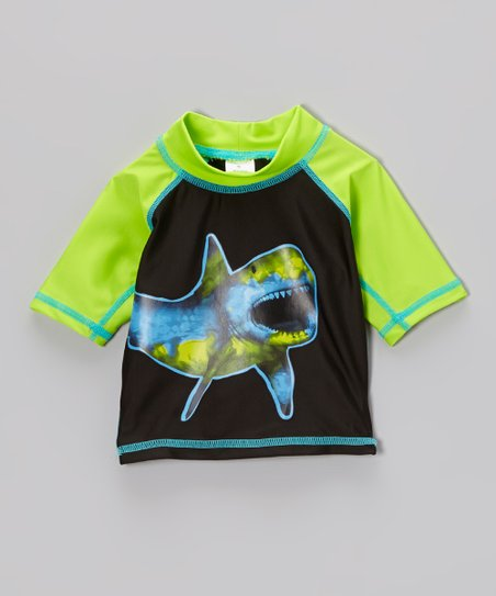 Black Shark Rashguard - Infant, Toddler & Boys