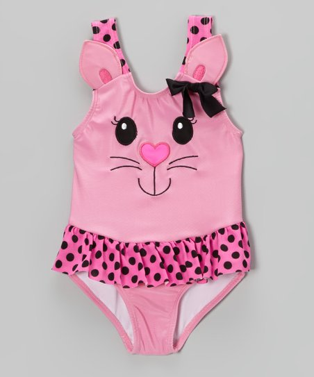 Pink Kitty Skirted One-Piece - Infant & Toddler