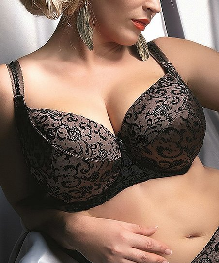 Black & Brown Letizia Underwire Bra - Women & Plus