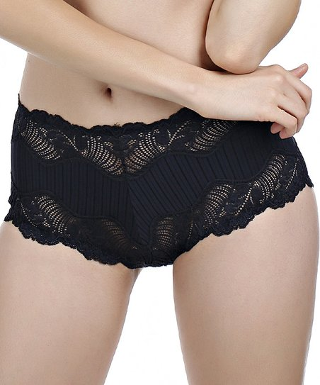Black Lace Boyshorts - Women & Plus
