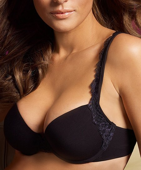 Black T-Shirt Contour Plunge Bra - Women & Plus