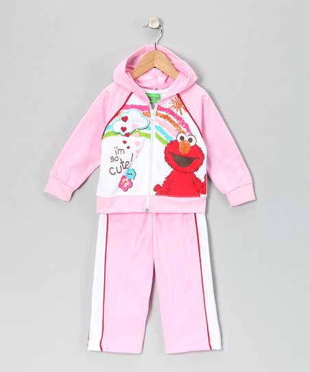 Rosy Petal Elmo Zip-Up Hoodie & Pants - Infant