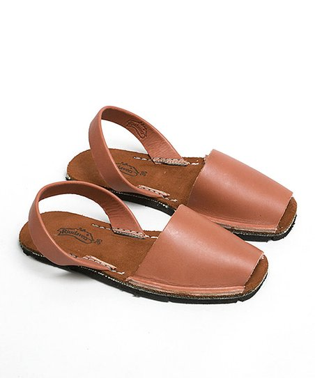 Brown Leather Slingback Sandal - Women