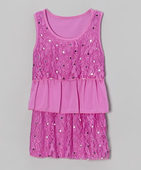 Orchid Lace Sequin Tiered Tank - Toddler & Girls