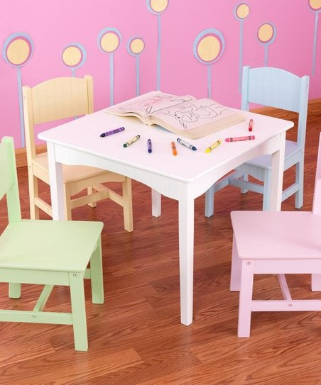 Pastel Nantucket Table & Chair Set