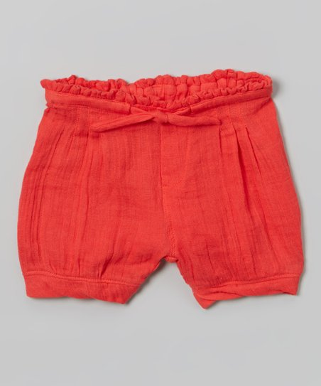 Red Muslin Shorts - Infant
