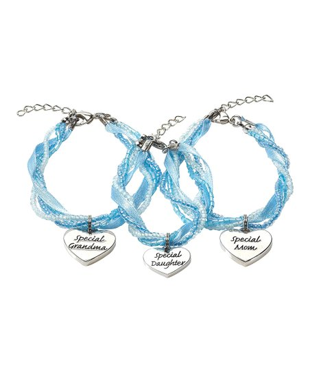 Blue Three Generation Bracelet Set