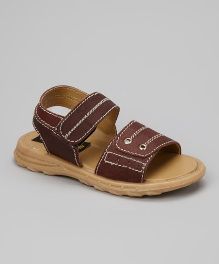 Brown Crisscross Sandal