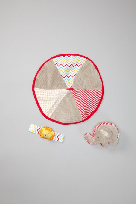 Gray & Red Big Top Lovey Set