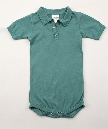 Emerald Green Polo Bodysuit - Infant