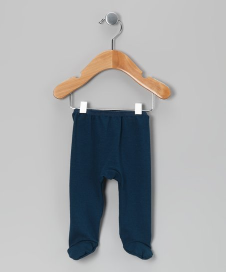 Navy Blue Footie Pants