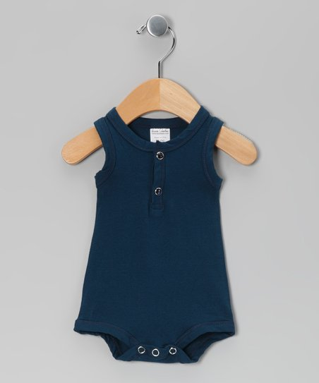 Navy Blue Tank Bodysuit