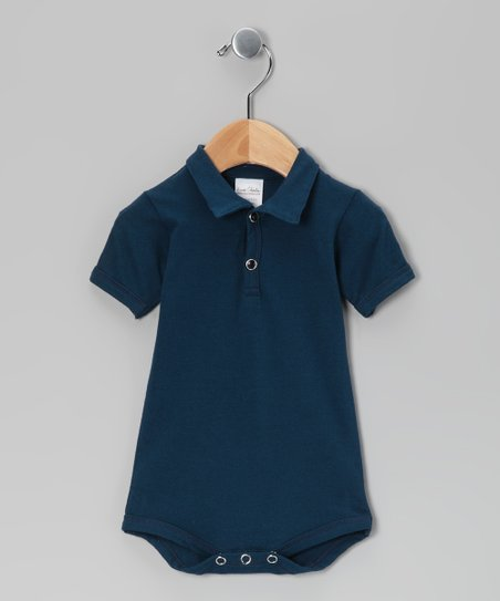 Navy Blue Polo Bodsysuit