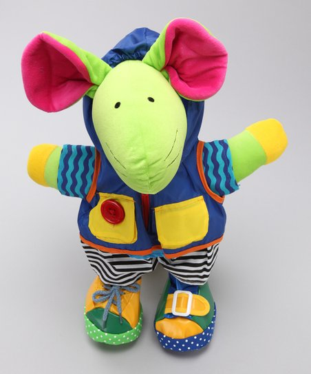 Squeak E. Mouse Learn-to-Dress Plush Toy