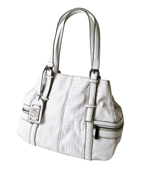 White Crocodile Mercer Tote