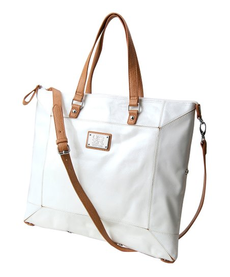 White Convertible Tote