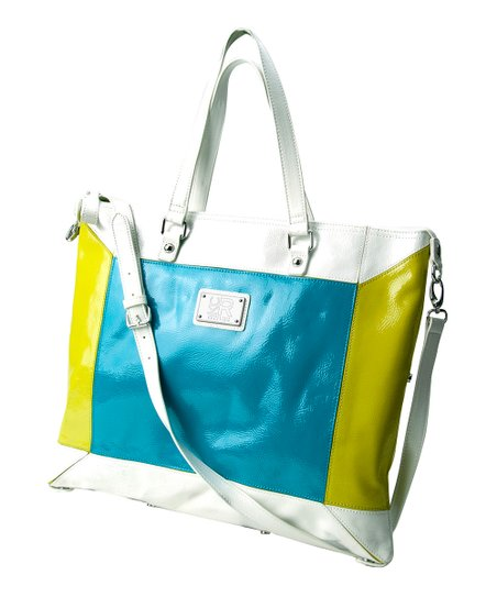 Blue & Yellow Convertible Tote