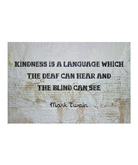 'Kindness Is a Language' Art Print
