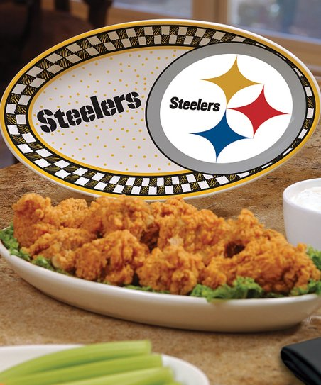 Pittsburgh Steelers Game Day Ceramic Platter