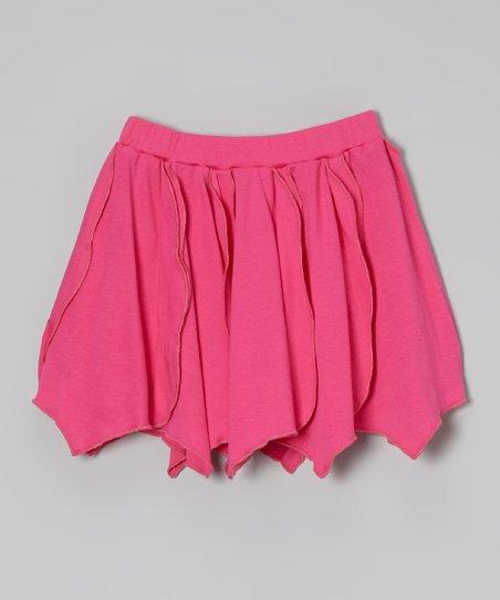 Fuchsia Rosebud Skirt - Toddler & Girls