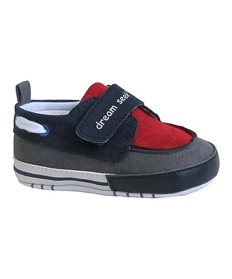 Navy & Red 'Dream Seek' Sneaker