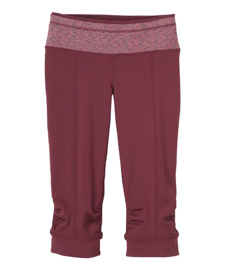 Pomegranate Ruched Alyson Capri Pants - Women