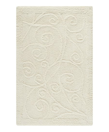 Natural Scroll Bath Rug