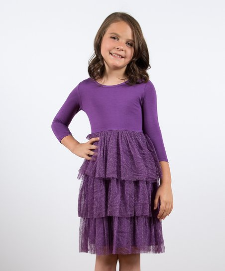 Purple Season Sparkle Dress - Toddler & Girls