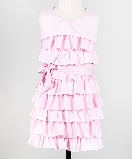 Ballerina Pink Ribbon Candy Dress - Toddler & Girls